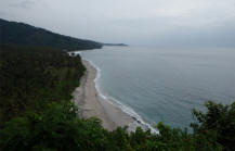 malimbu beach view
