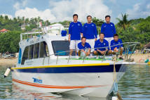 wahana fast boat and the crew
